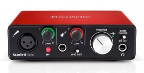 Аудіоінтерфейс Focusrite Scarlett Solo NEW + навушники Numark HF125 DJ в подарунок
