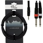 Кабель Alpha Audio 1mini jack/2 mono jack (1.5м) 190120