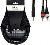 Кабель Alpha Audio 1mini stereo jack/ 2 RCA 1.5м 190160