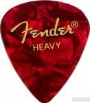 Набор медиаторов Fender 351 Premium Celluloid Red Moto Heavy (098-0351-909)