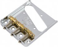 Бридж Fender Bridge Assembly for American Vintage Hot Rod Telecaster With Compensated Brass Saddles Nickel (91114049)