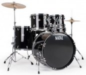 Ударная установка Natal Drums Dna Rock Drum Kit Black Hardware Pack (Rock Kit - Black)
