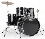 Ударная установка Natal Drums Dna Us Fusion Drum Kit Black Hardware Pack (US Fusion Kit - Black)