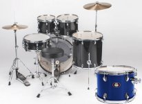 Ударна установка Natal Drums Dna Us Fusion Drum Kit Blue Hardware Pack (US Fusion Kit - Blue)