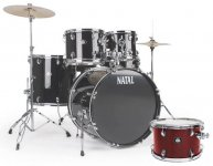 Ударна установка Natal Drums Dna Us Fusion Drum Kit Red Hardware Pack (US Fusion Kit - Red)
