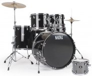 Ударна установка Natal Drums Dna Us Fusion Drum Kit Silver Hardware Pack (US Fusion Kit - Silver)