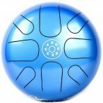 Глюкофон Palm Percussion HD6-2 Metal Tongue Drum 8 Leafs Spot Blue