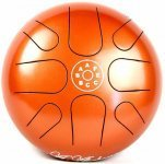 Глюкофон Palm Percussion HD6-3 Metal Tongue Drum 8 Leafs Spot Orange